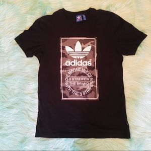 Adidas 3 Streiffen Camo Dot Tee Shirt M